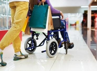 disabled adult shopping