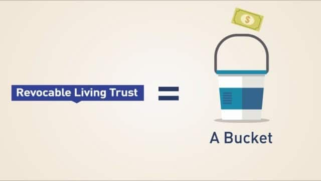 Revocable Trust as bucket with money