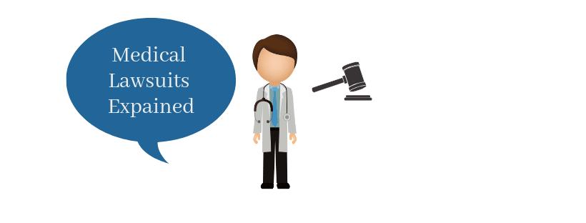 Doctor explaining a medical lawsuit